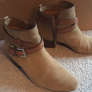 Brown Coach Suede ankle boots